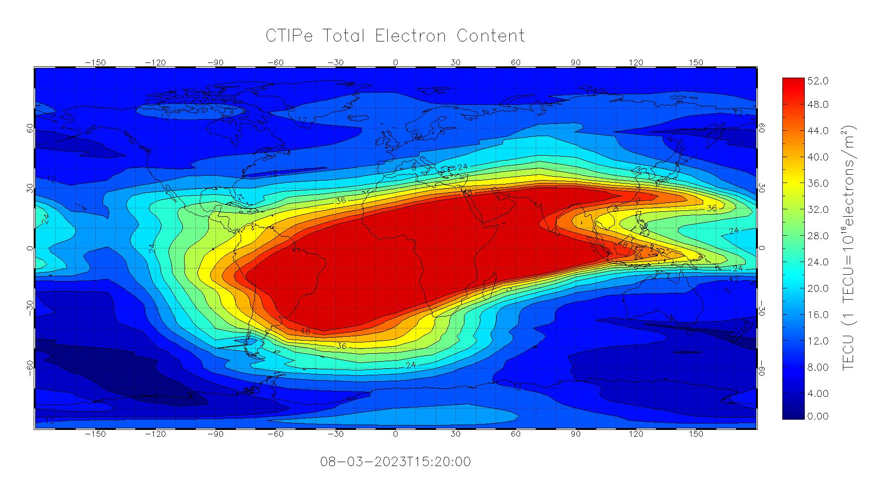 CTIPe Total Electron Content Image