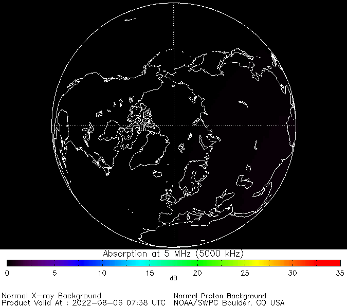 thumbnail of North polar global absorption predictions at 5 MHz