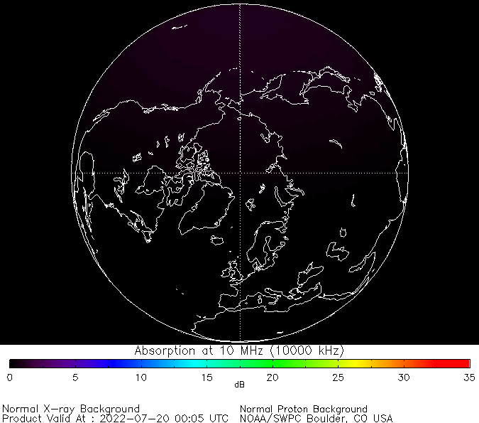thumbnail of North polar global absorption predictions at 10 MHz