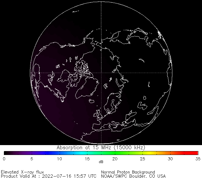 thumbnail of North polar global absorption predictions at 15 MHz