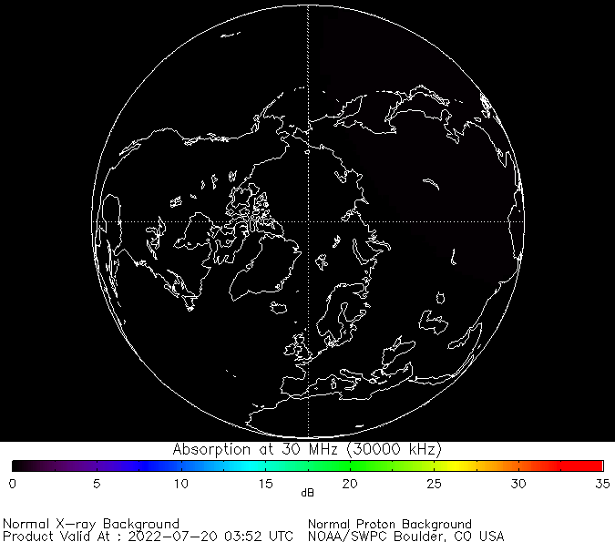 thumbnail of North polar global absorption predictions at 30 MHz
