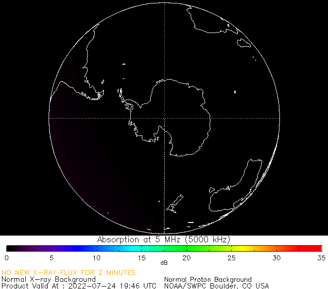 thumbnail of South polar global absorption predictions at 5 MHz