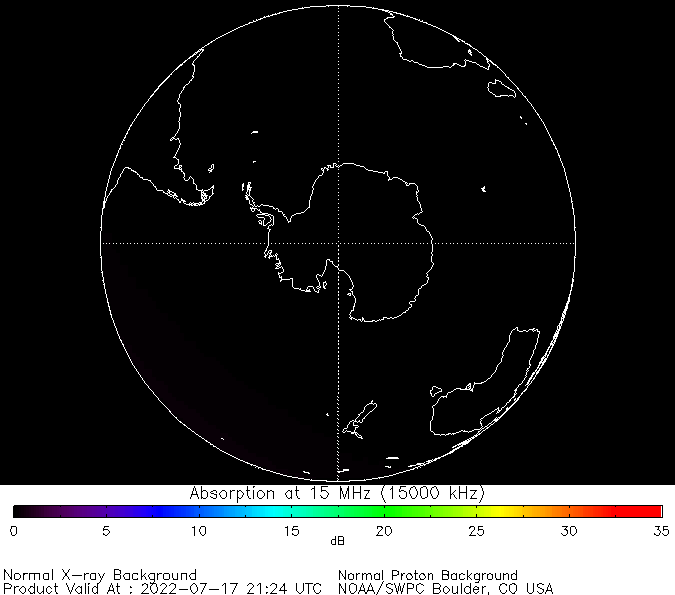 thumbnail of South polar global absorption predictions at 15 MHz