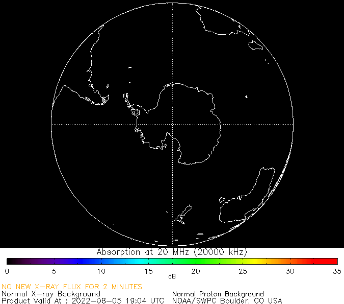 thumbnail of South polar global absorption predictions at 20 MHz