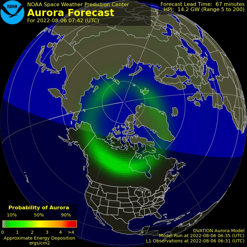 Northern Aurora Forecast