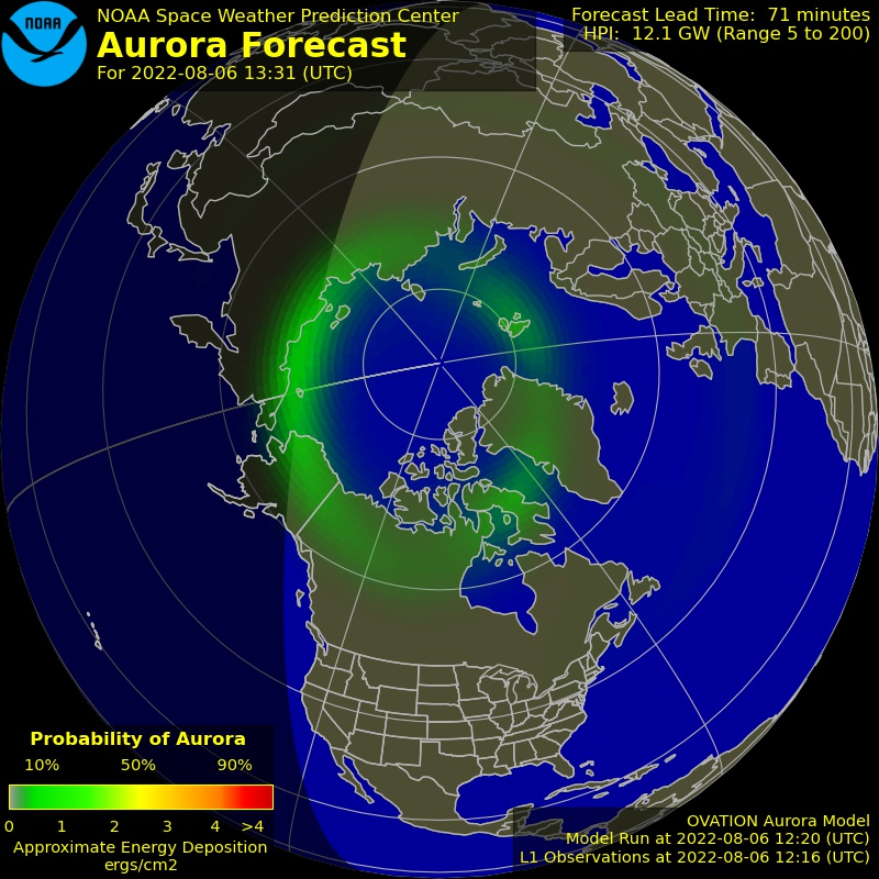 THE NORTHERN LIGHTS (AURORA) RIGHT NOW 1