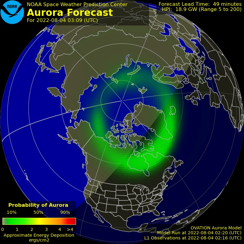 Aurora ovation plot