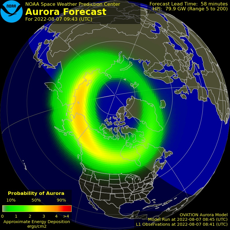 Current Auroral Oval [+30min]