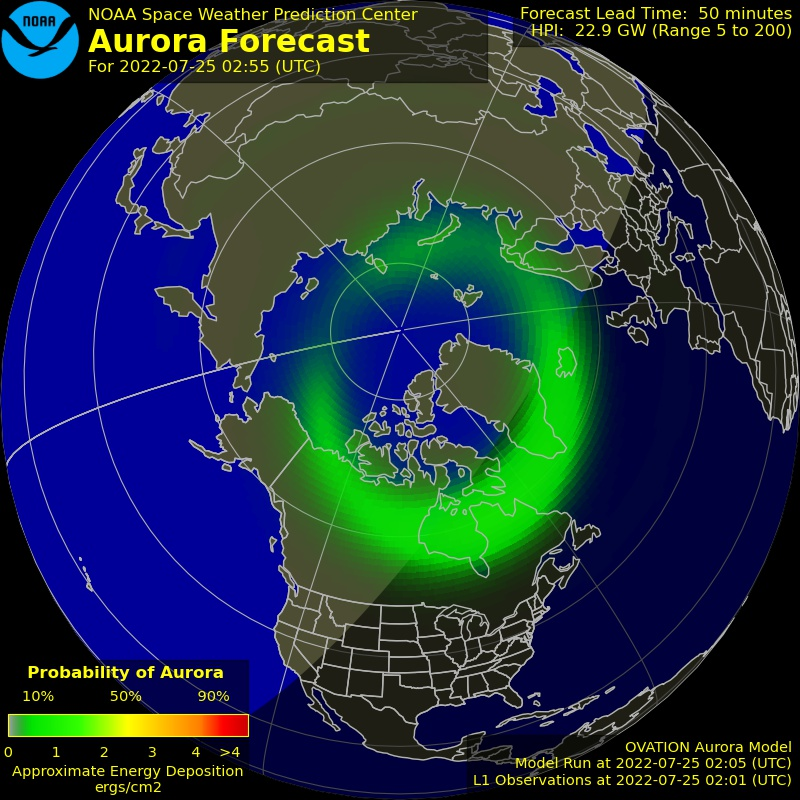 North Auroral Forecast Image