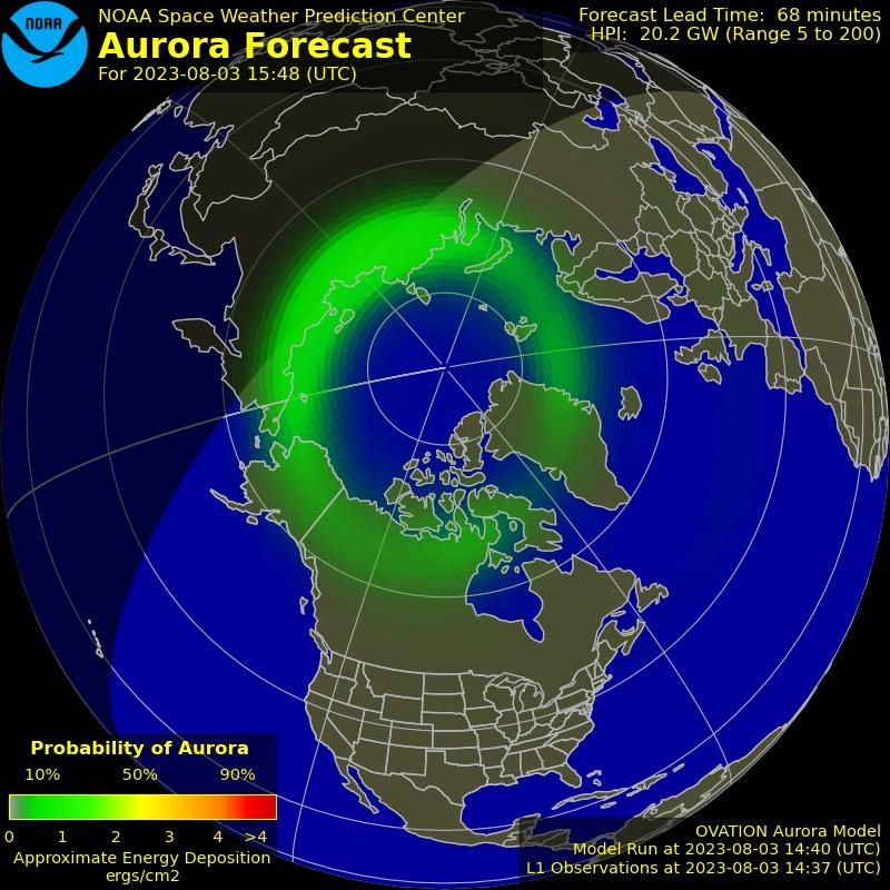 North Auroral Forecast Image