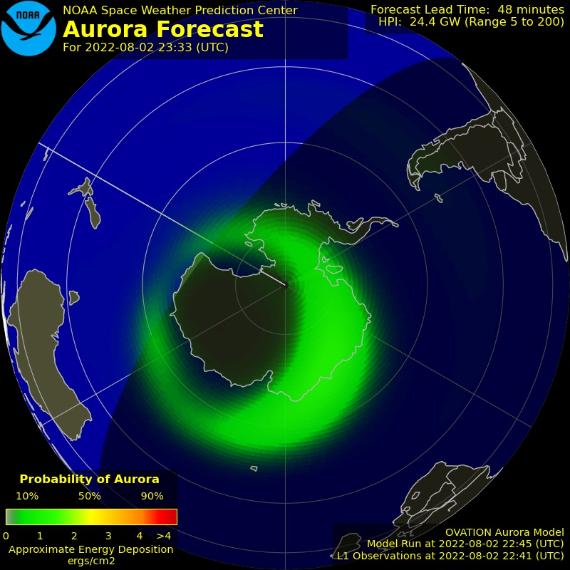 South Auroral Forecast Image