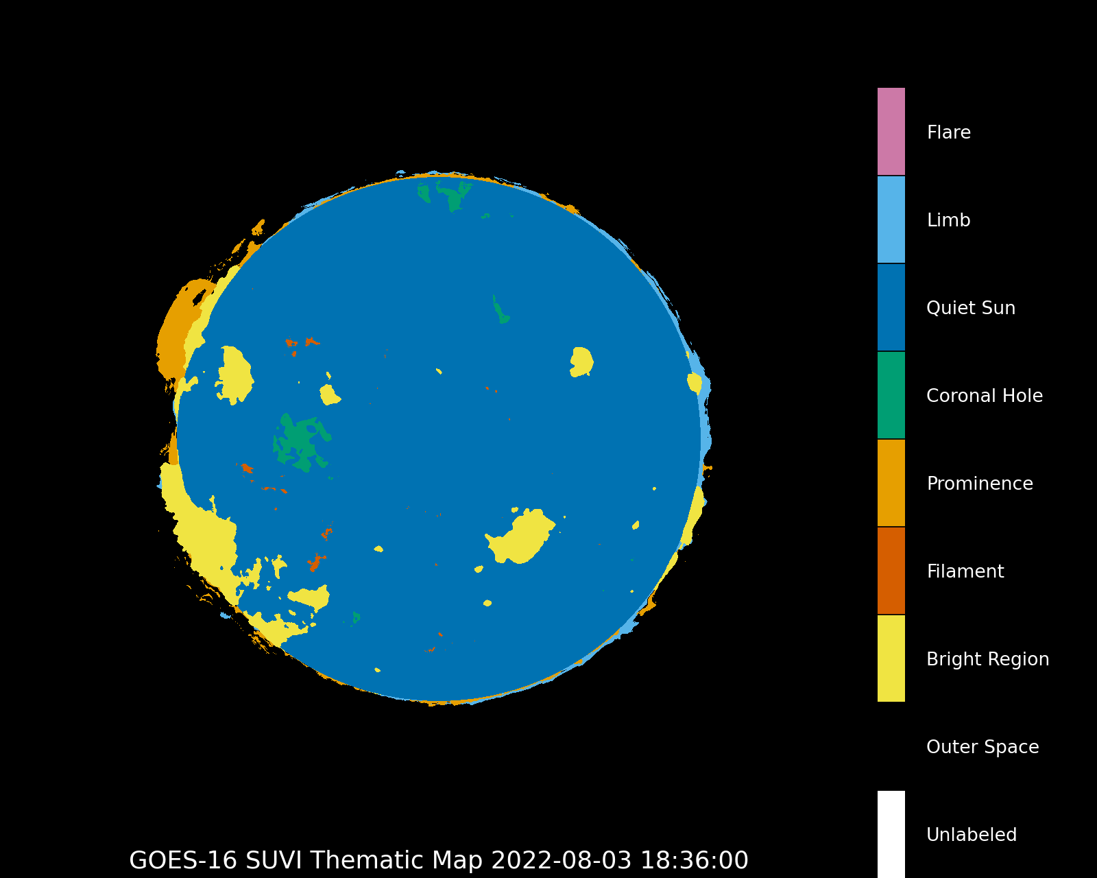 GOES-16 Thermatic map