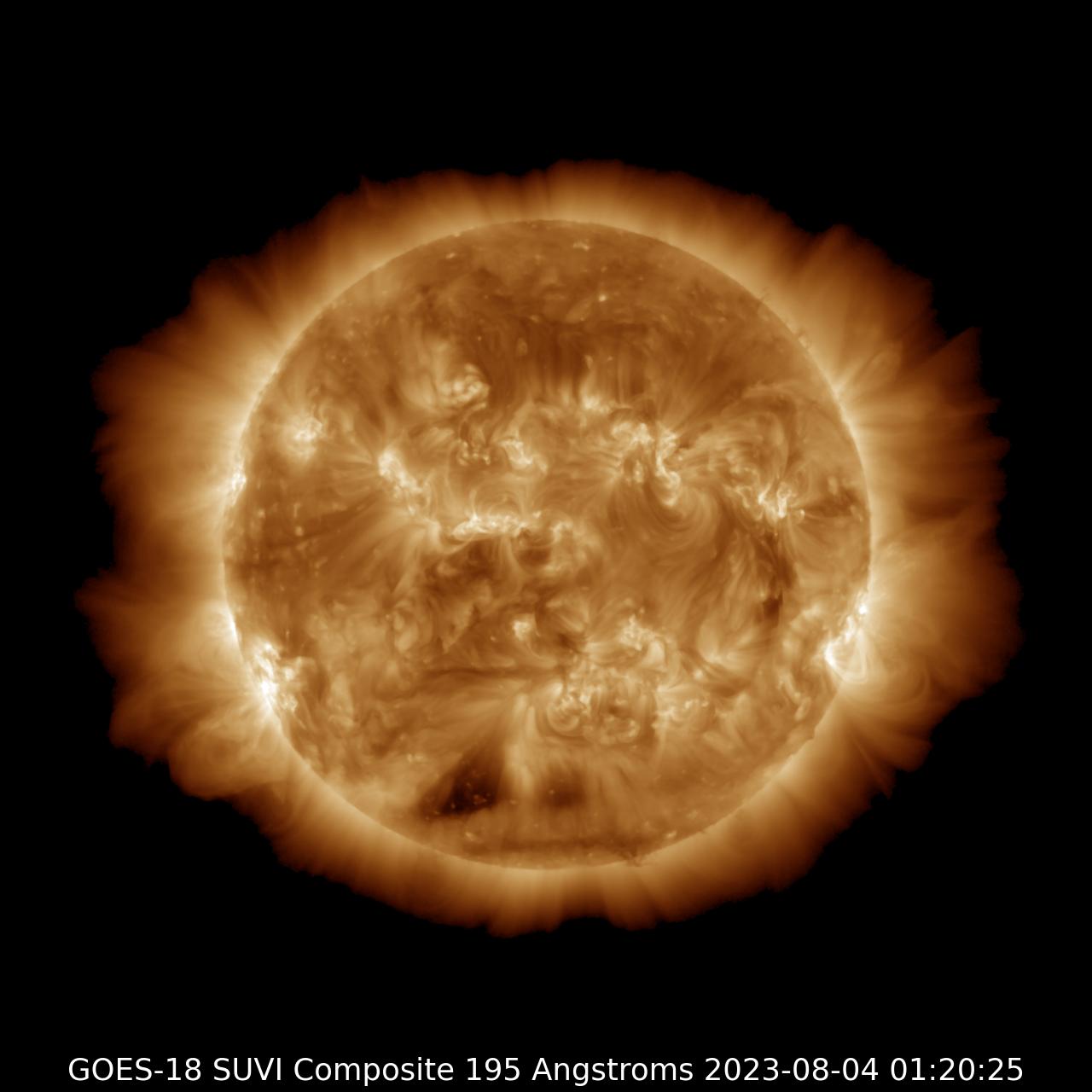 GOES-17 SUVI 195