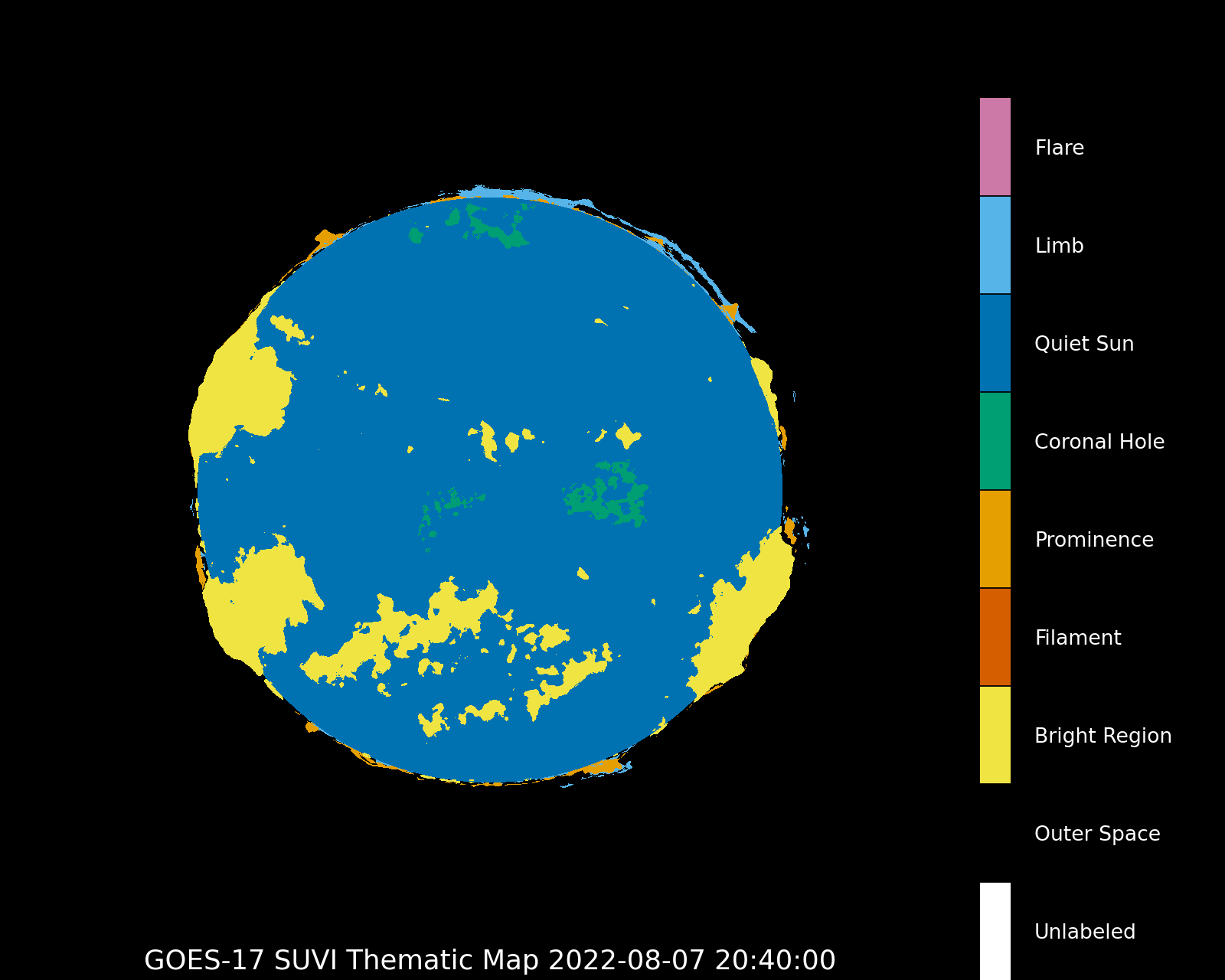 GOES-17 Thermatic map