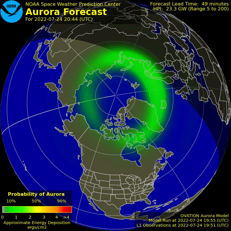 Aurora Borealis forecast right now