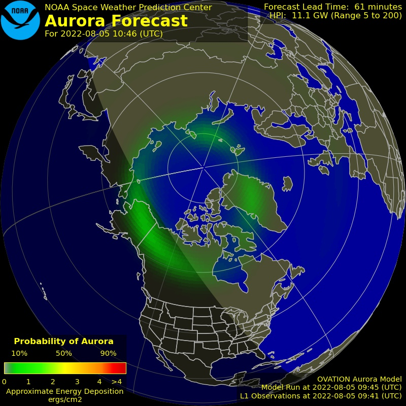 Geomagnetic Field over the North Pole