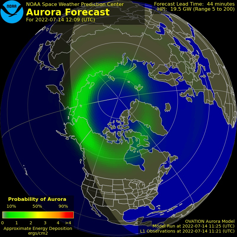Current North Pole Auroral Oval: