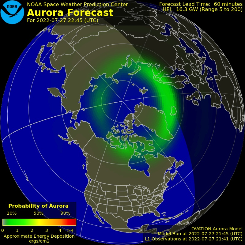 Current Auroral Oval not available right now
