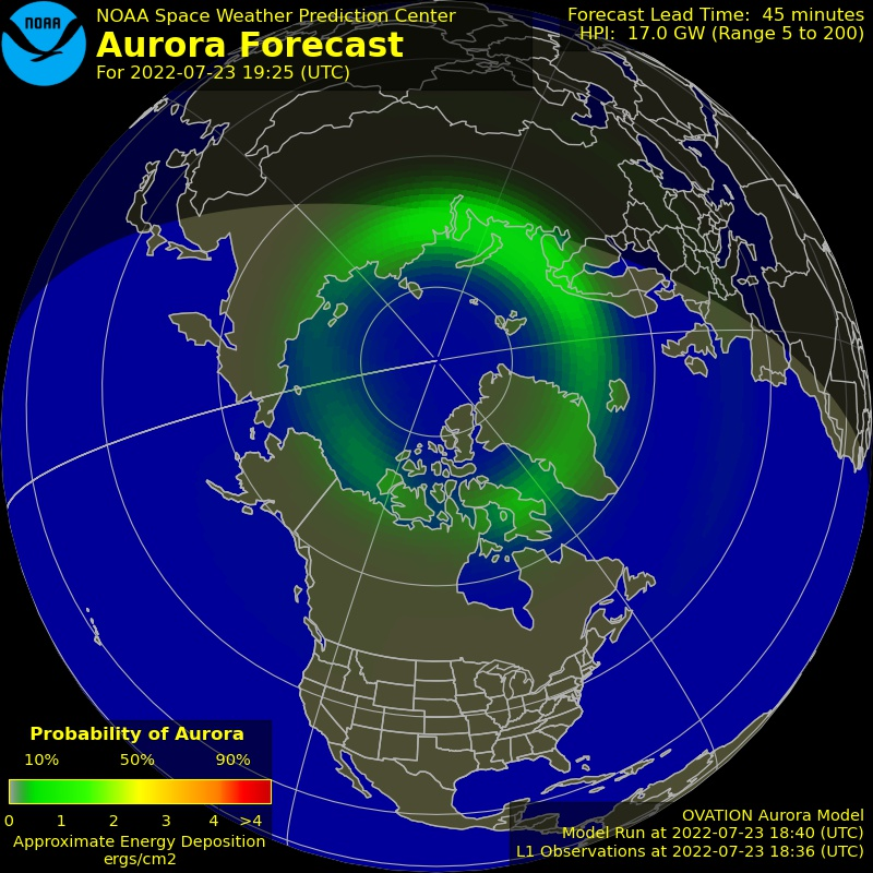 Aurora Boreale real time