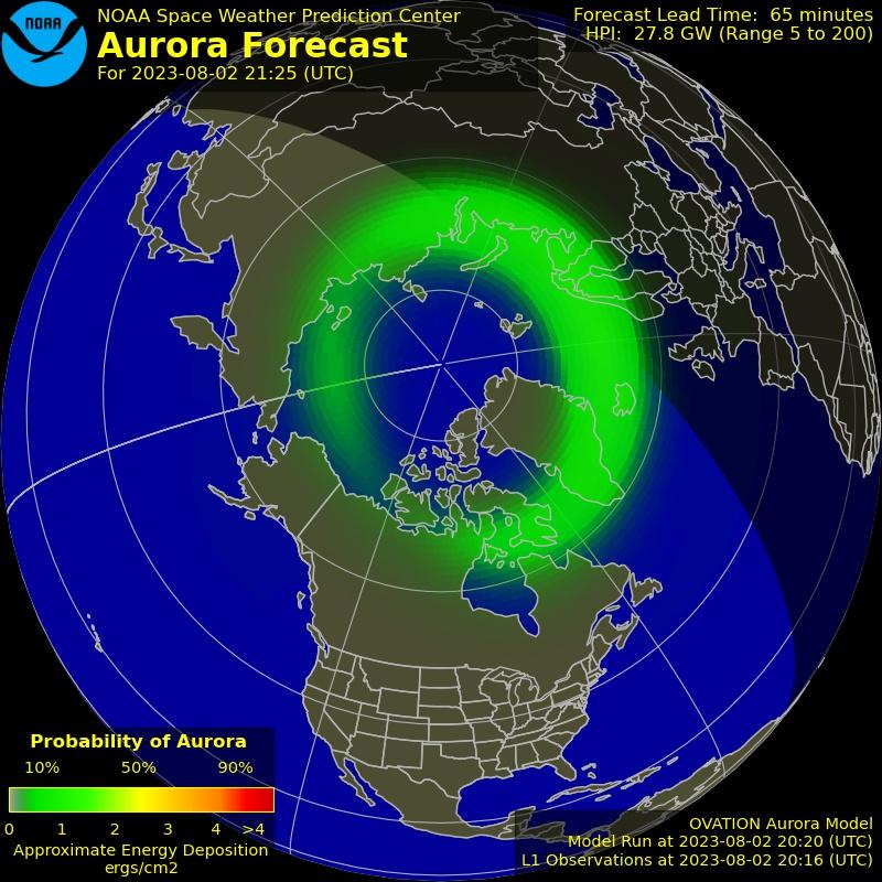 Aurora Northern Hemisphere