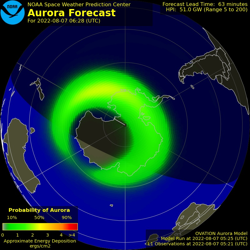 Aurora Map South