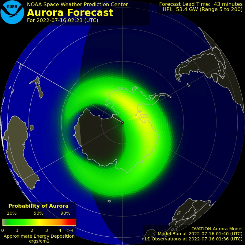 OVATION Auroral Forecast