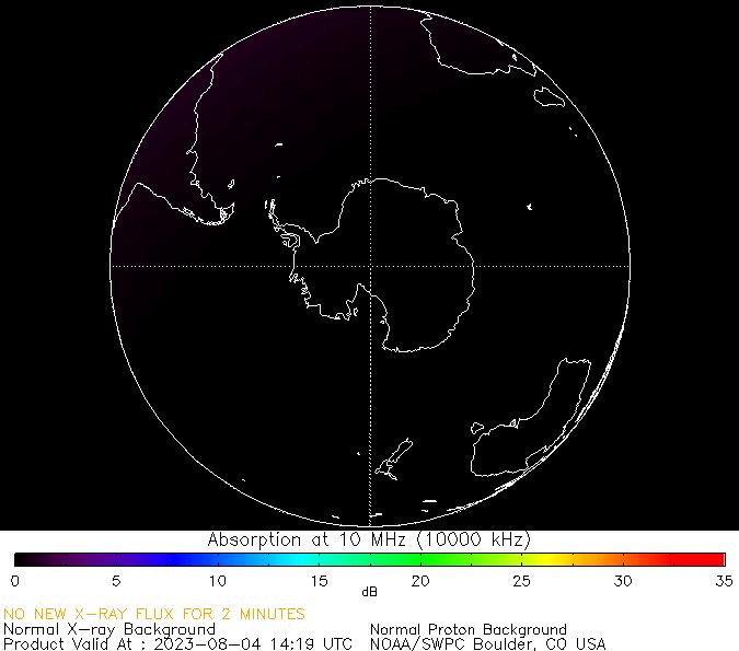 thumbnail of South polar global absorption predictions at 10 MHz