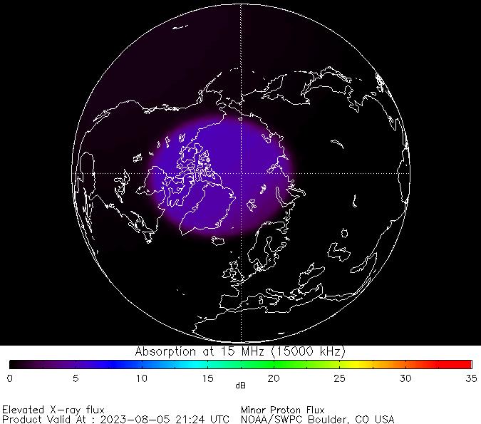 thumbnail of North polar global absorption predictions at 15 MHz
