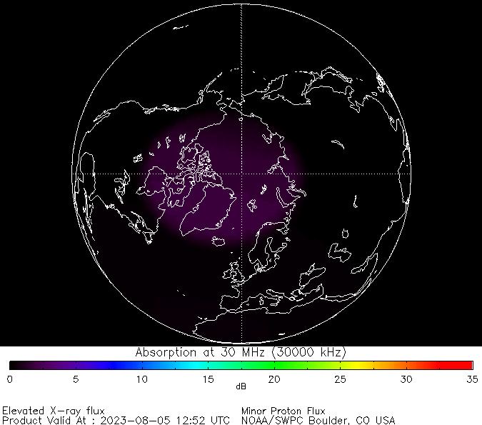 thumbnail of North polar global absorption predictions at 30 MHz