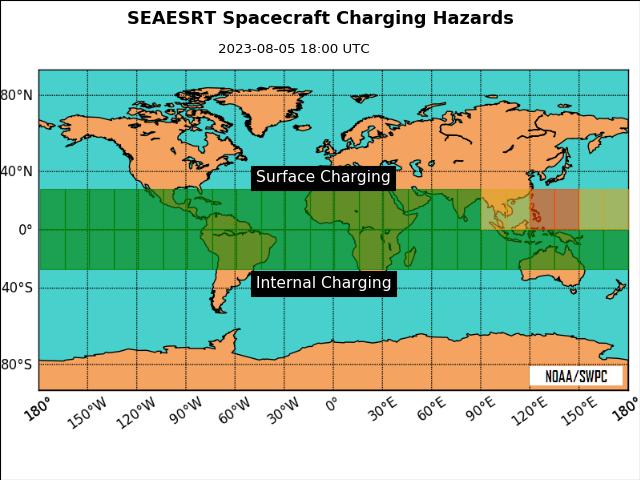 SEAESRT Spacecraft Charging Hazards plot